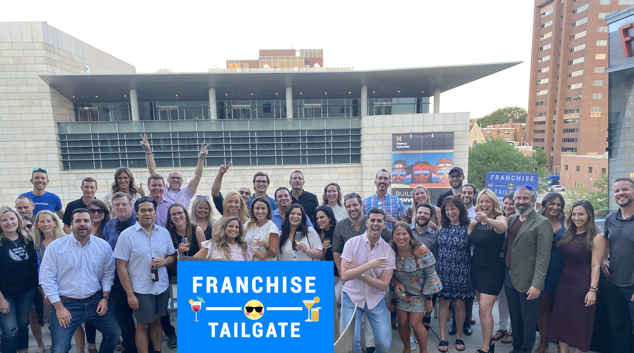 Franchise Tailgate event that George Abraham and Mary DeBonis attended